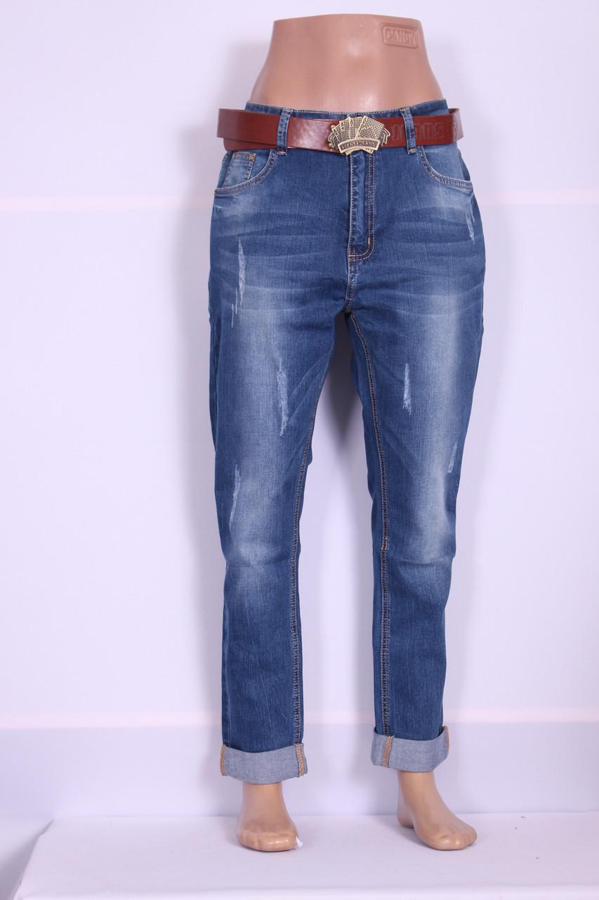 146f3c04a723f Женские джинсы бойфренды Vanver( код 8622) больших размеров оптом -  Интернет-магазин