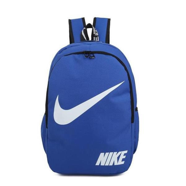 Городской рюкзак Nike синий с белым логотипом (реплика)