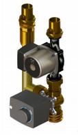 Компактная насосная группа со смесительным клапаном и приводом, без изоляции и насоса ОЕМ-0-10