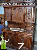 Эксклюзивная мебель из Европы, старинный сервант, оригинальный буфет, мебель из натурального дерева