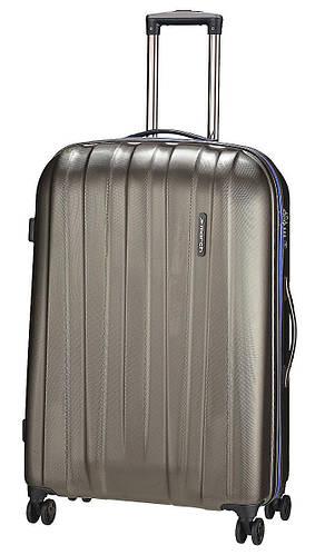 4-колесный великолепный большой чемодан из пластика 108 л. MARCH Rocky 3651/84 синий/серый