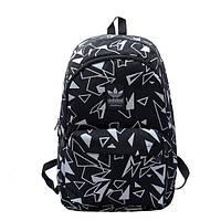 Рюкзак Adidas черный с белыми треугольниками