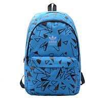 Рюкзак Adidas голубой с черными треугольниками