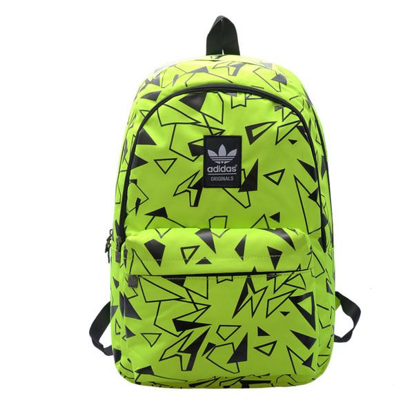Рюкзак Adidas салатовый с черными треугольниками (реплика)