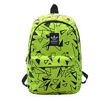Рюкзак Adidas салатовый с черными треугольниками
