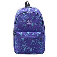 Рюкзак Adidas фиолетовый с голубыми треугольниками