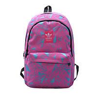 Городской рюкзак Adidas розовый с голубыми треугольниками