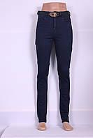 Женские джинсы  LDM ( код 8774) больших размеров с высокой посадкой узкие
