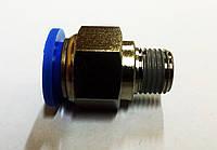 Фитинг быстроразьемный для шлангов 6мм (Sumake PC 0602)