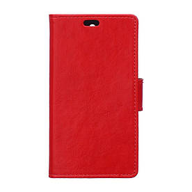 Чехол книжка для Lenovo Vibe P1 боковой с отсеком для визиток и отверстием под динамик Красный