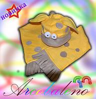 Шапка шарф  *Веселый жираф*