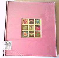 Детский магнитный фотоальбом EVG на 30 листов самоклеек 29x32 w/box  Baby розовый в подарочной коробке