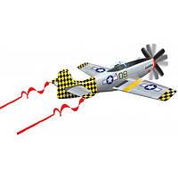 WindNSun Воздушный змей WindNSun 3D P-51 Mustang, 107 см