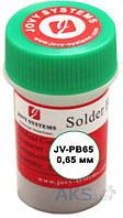 Jovy Systems BGA-шарики  JV-PB65, 0,65 мм, 250,000 шт., оловяно-свинцовые