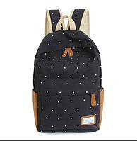 Рюкзак в горошек (черный)