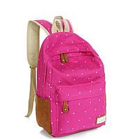 Рюкзак в горошек (розовый), фото 1