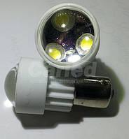 Светодиодная автолампа 1156-3PCS 3W White (180-200Lm) ceramic lamp (с линзой 90°)
