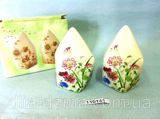 Набор для специй Белый Растения, цветы