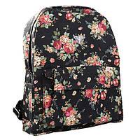 Рюкзак женский  Розы (черный)