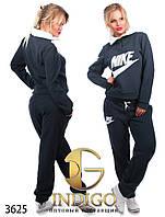 """Спортивный костюм женский теплый больших размеров """"Nike воротник молния"""""""