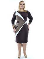 Сукня більшого розміру французький трикотаж, фото 1