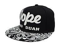 Cветящаяся черная кепка DOPE