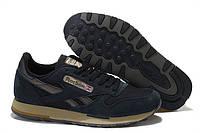 Мужские кроссовки Reebok Classic(рибок классик) замшевые черные