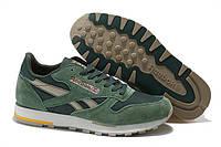 Мужские кроссовки Reebok Classic(рибок классик) замшевые зеленые