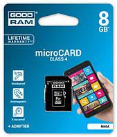Карта памяти GoodRAM microSDHC 8 GB class 4 (+SD адаптер)