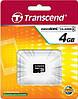 Карта памяти microSDHC Transcend 4 GB class 4 (без адаптера)