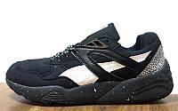 Мужские кроссовки Puma Trinomic R698 Black Snow Pack (пума, пума триномик) черные