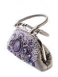 Кожаная сумочка с вышивкой бисером и натуральными камнями, фото 7