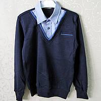 """Двойка -обманка """"Blueland"""" для ПОДРОСТКА,Турция. Рубашки для мальчиков, школьная форма , обманки"""