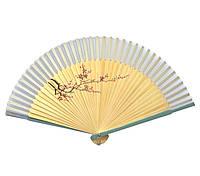 Веер бамбук с шелком 21см (24666X)