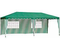 Шатер зелёный с двумя стенками 3х6 метров, фото 1