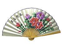 Веер бамбук с шелком в ассортименте 50см (24235B)