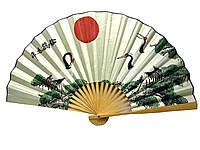 Веер бамбук с шелком в ассортименте 50см (24235J)