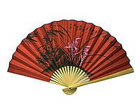Веер бамбук с шелком в ассортименте 50см (24235C)