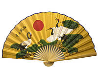 Веер настенный бамбук+ткань 50см (20716F)