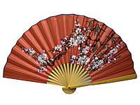 Веер настенный бамбук+ткань 50см (20716A)