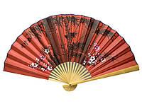 Веер настенный бамбук+ткань 50см (20716B)