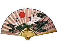 Веер настенный бамбук+ткань 50см (20716D)