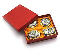 Шкатулки керамические набор 4шт 13,5х11х4см (28116)