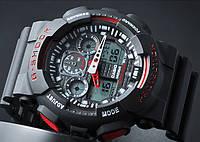 Спортивные часы Casio G-Shock GA 100 черный с красным