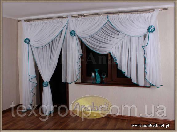 Готовая тюль на окно с балконной дверью №204, фото 2