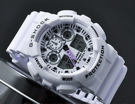 609d4eae Спортивные часы Casio G-Shock GA 100 белый, цена 327,14 грн., купить ...
