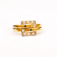 Золотое кольцо с бриллиантами р16.5