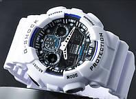Спортивные часы Casio G-Shock GA 100 белый с черным