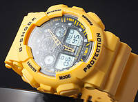 Спортивные часы Casio G-Shock GA 100 желтые