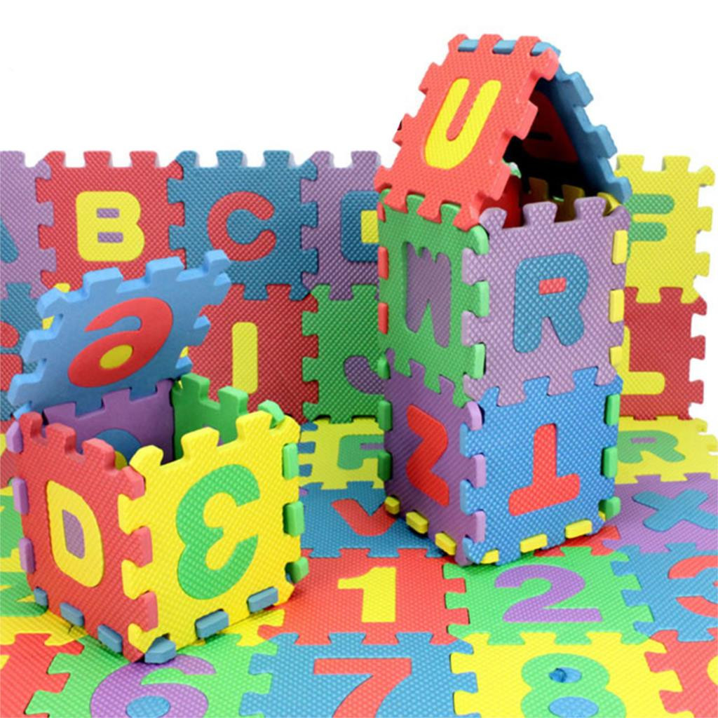 Мягкий коврик пазл - головоломка 36 шт. Английский алфавит